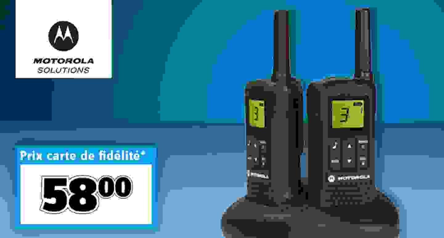 Motorola Solutions - Lot de 2 talkie-walkies PMR »