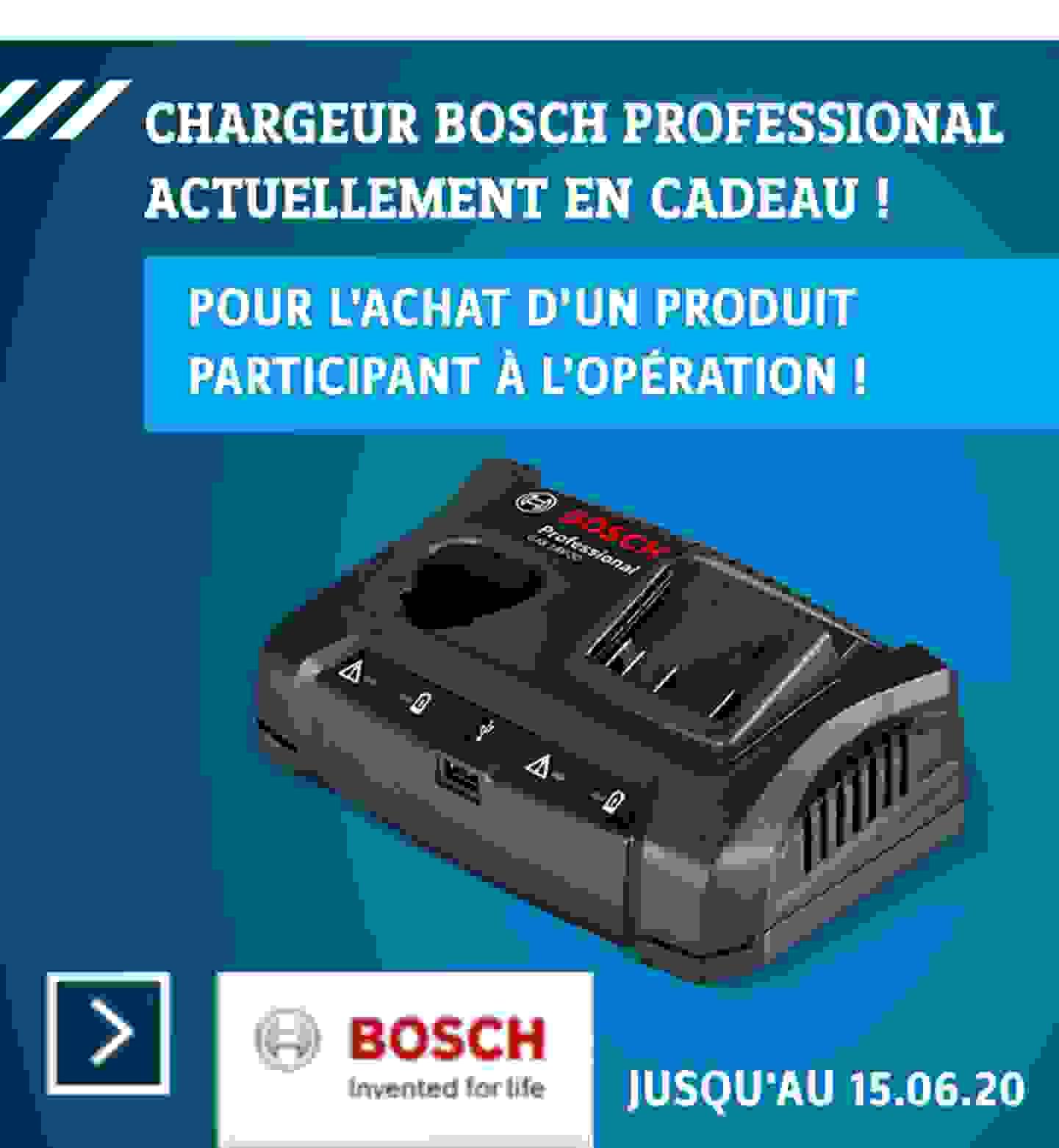 Opération chargeur Bosch