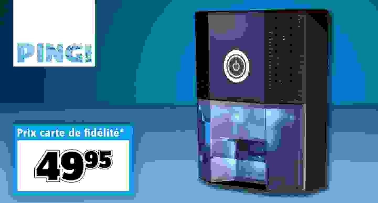 PINGI - Déshumidificateur d'air Vida 18 W noir, bleu