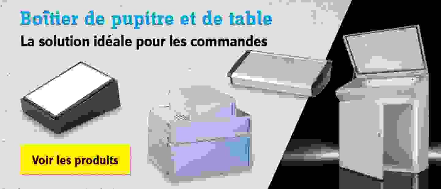 Boîtier de pupitre et de table - La solution idéale pour les commandes