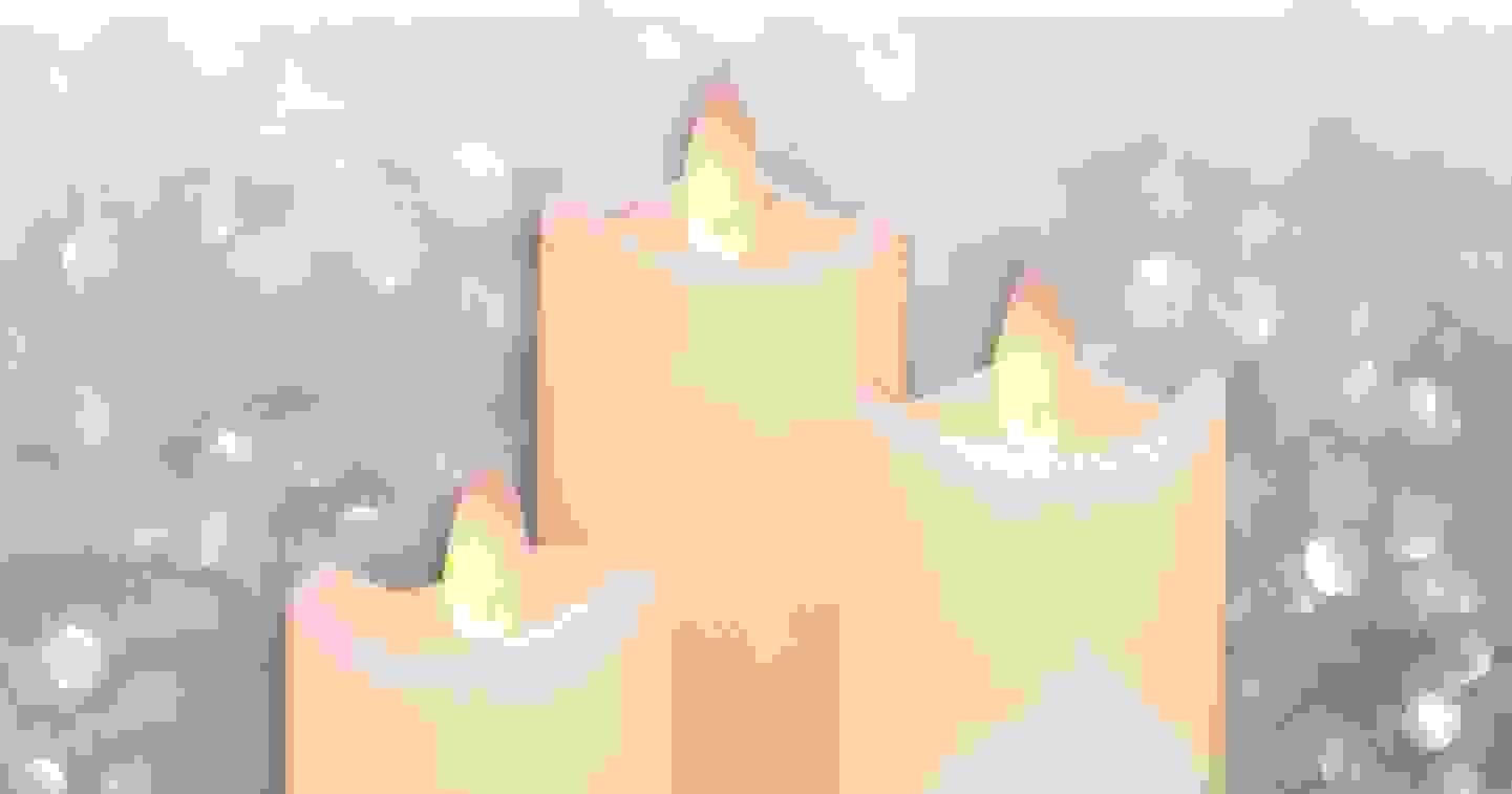 Polarlite - Lot de 3 bougies LED en cire véritable »