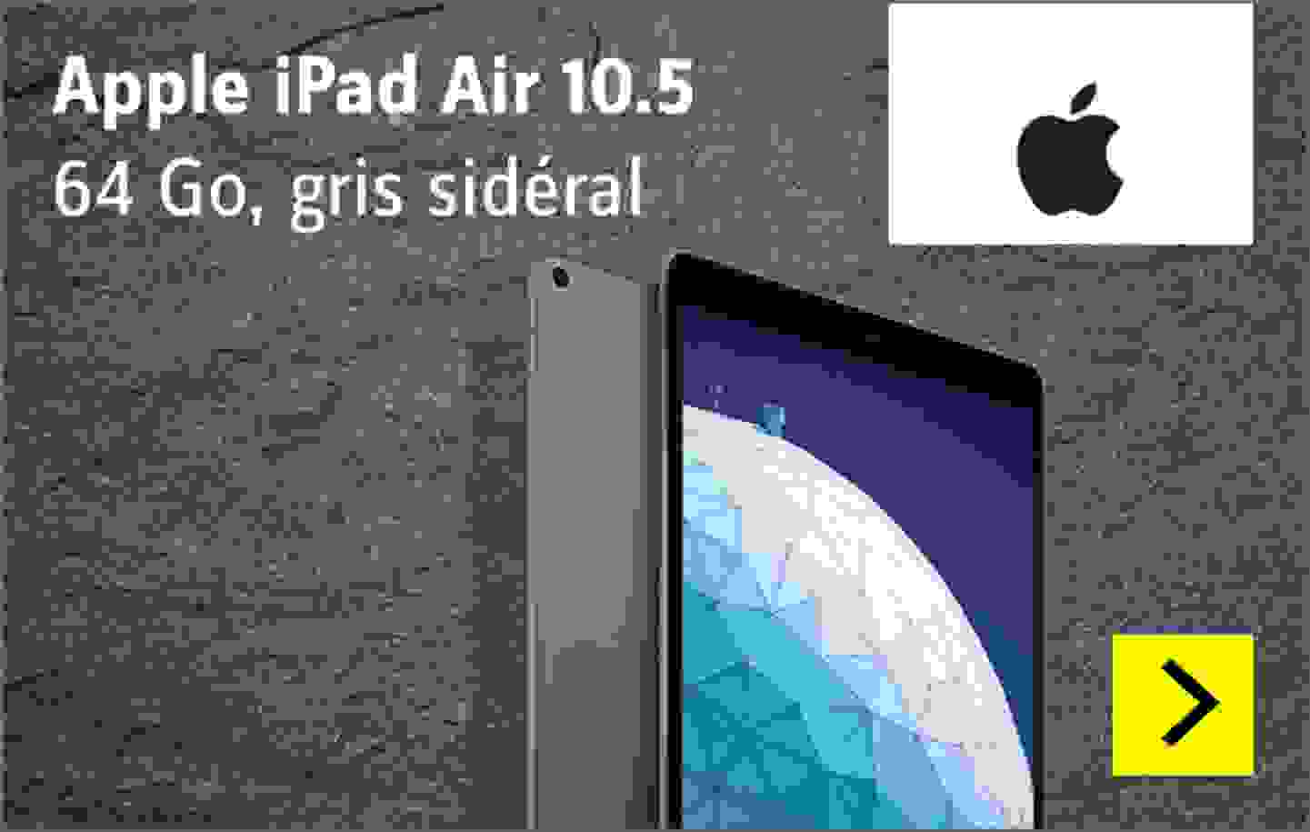 Apple iPad Air 10.5 WiFi 64 Go gris sidéral