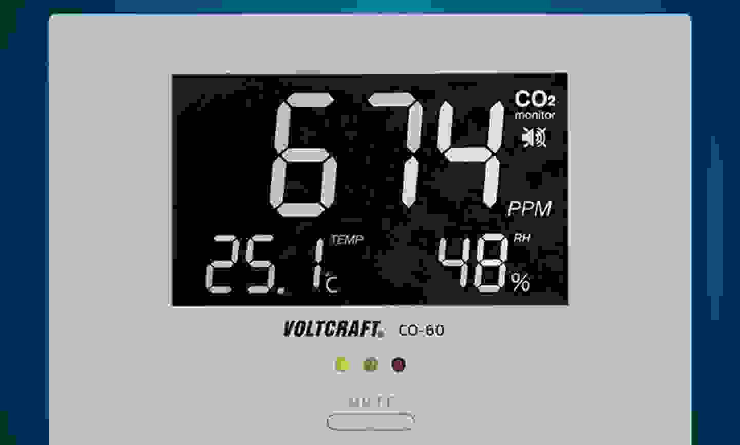 Voltcraft - CO-60 - Détecteur de dioxyde de carbone 0 - 3000 ppm »