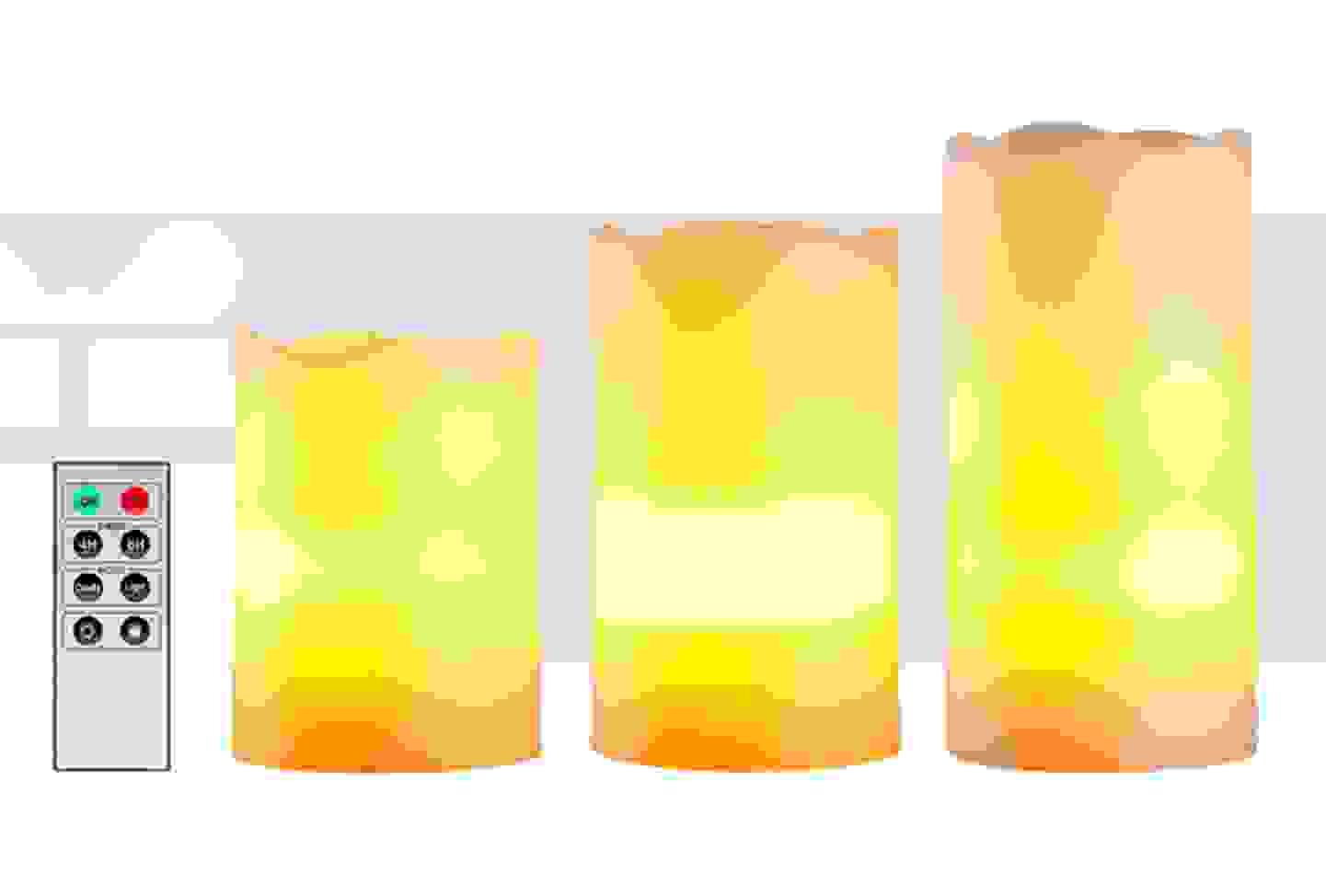 Polarlite - lot de 3 bougies LED blanc