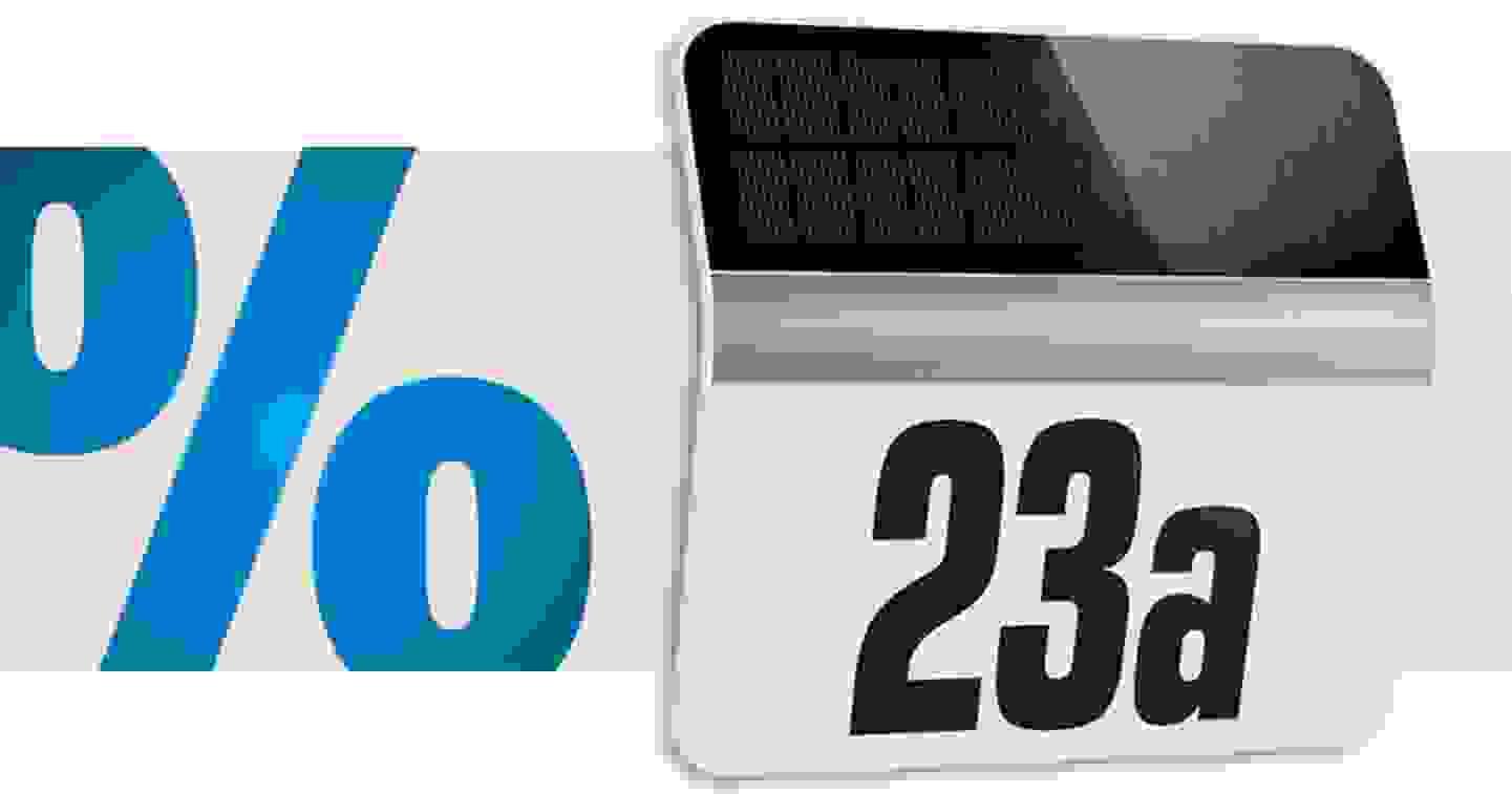 Steinel - Applique solaire de numéro | 1 LED, blanc froid »