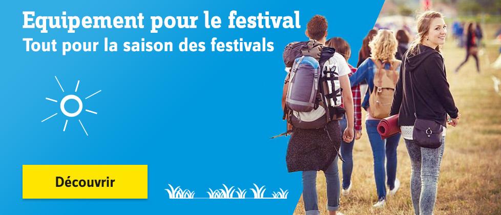 Equipement pour le festival : bons accessoires, outils et une check-list »
