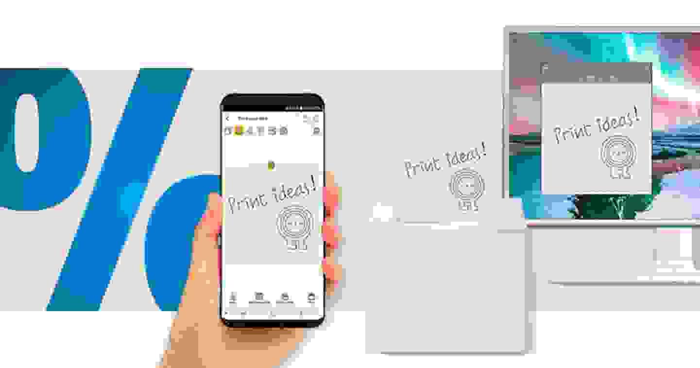 Nemonic - Note Printer, Imprimante de notes adhésives thermocollantes 203 x 203 dpi, largeur d'étiquettes (max.) : 80 mm Bluetooth®, US »