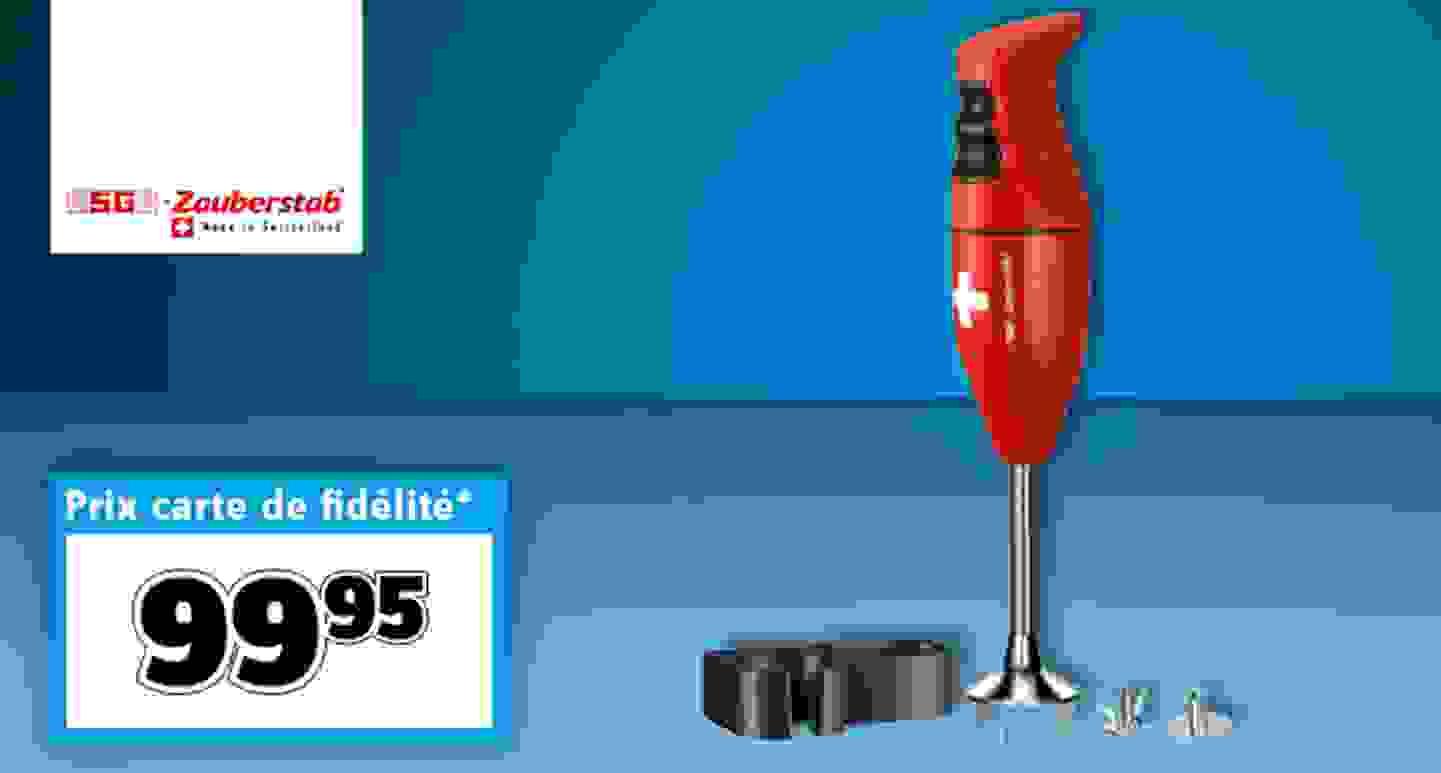 ESGE - Mixeur plongeant multifonction rouge »